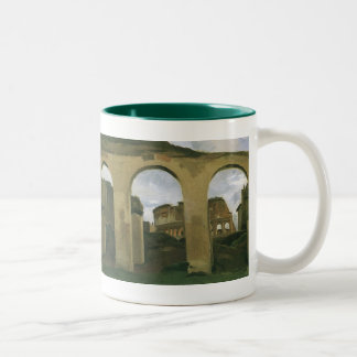 Colosseum Seen through the Arcades in Rome, Italy Two-Tone Coffee Mug