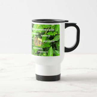 Colossians 3:12 Clothe yourselves with compassion Travel Mug