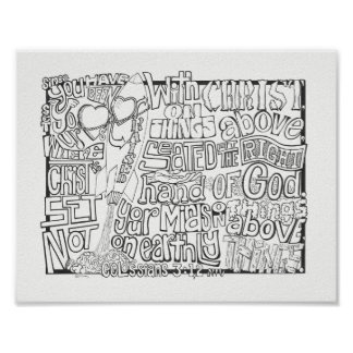 Colossians 3:12/ Scripture Coloring Verse Poster