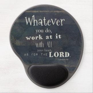 Colossians 3:23 Bible Verse, Scripture Art Gel Mouse Pads