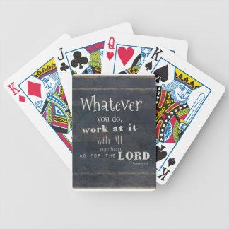 Colossians 3:23 Bible Verse, Scripture art Poker Deck