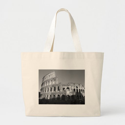 Colossium black and white canvas bags