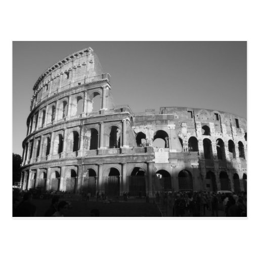 Colossium black and white postcards