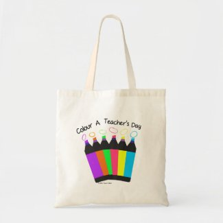 Colour a Teacher's Day Budget Tote Bag
