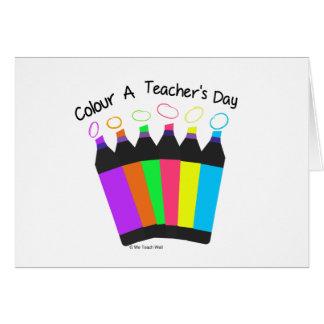 Colour A Teacher's Day Note Card