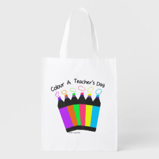 Colour a Teacher's Day  reusable bag