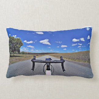 Colour and black and white Fikeshot pillow. Lumbar Cushion