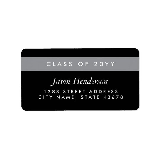 Colour Block Grad Address Label