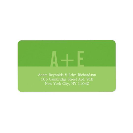 Colour Blocks Address Labels (Lime)