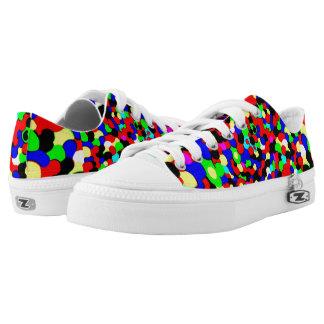 Colour bubble head low top shoes. printed shoes