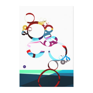 colour bubbles canvas print