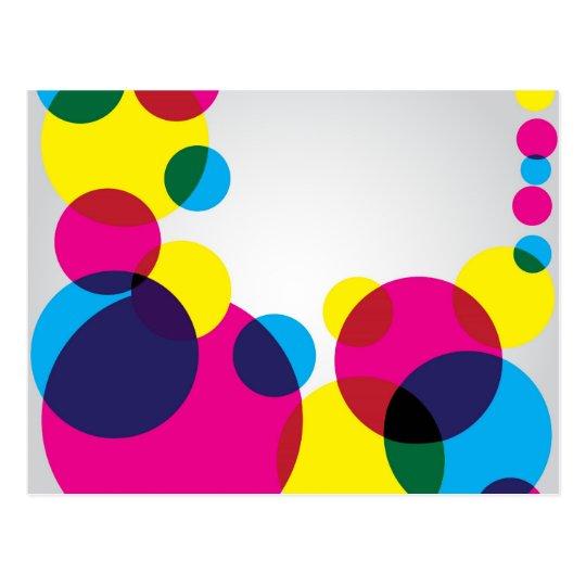 Colour Bubbles Postcard