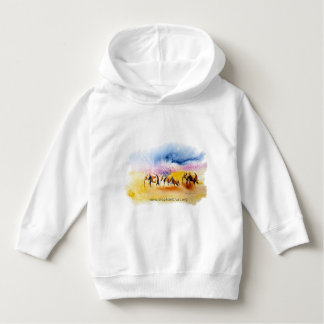 Colour burst elephant herd design hoodie