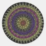 Colour burst round sticker