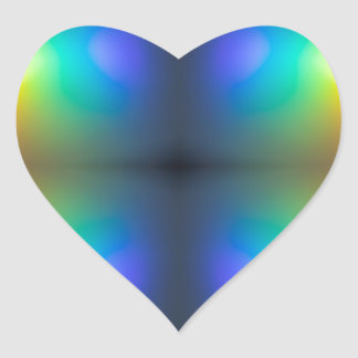 Colour Chaos abstract. Heart Sticker