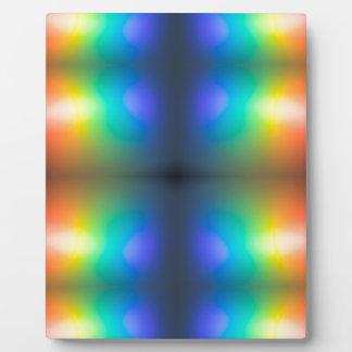 Colour Chaos abstract. Plaque