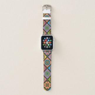 Colour Crazy Mandala Quilt Bee Diagonal Apple Watch Band