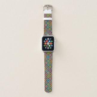 Colour Crazy Mandala Quilt Bee Diagonal Small Apple Watch Band
