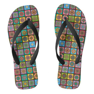 Colour Crazy Mandala Quilt Bee Thongs
