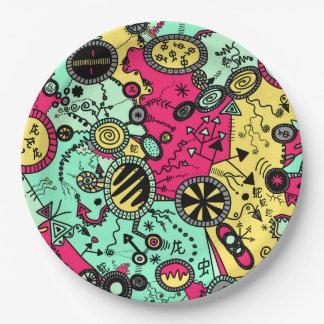 Colour Doodle 9 Inch Paper Plate