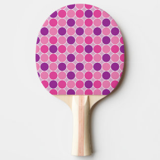 Colour dots in purple and lila ping pong paddle