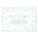 Colour Dots Modern Clean Neutral Baby Shower Personalized Announcements