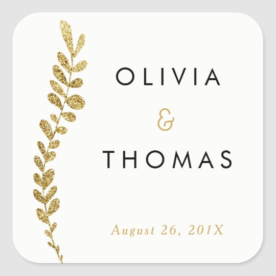 Colour Editable Gold Leaf Sticker, Favour Sticker