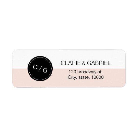 Colour editable minimalist modern return address return address label