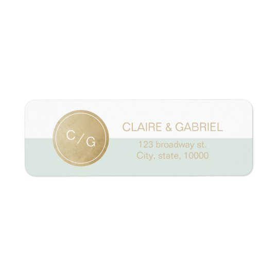 Colour editable minimalist modern return address return address label