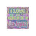 "Colour Fest: ""I LOVE Los Angeles"" Marble Stone Stone Magnet"