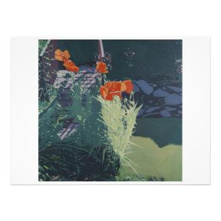 Colour fine art illustrated invitation card