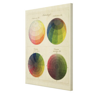 Colour Globes for Copper Canvas Print
