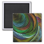 Colour Glory Abstract Art Square Magnet