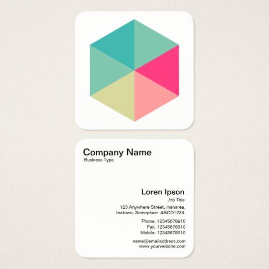 Colour Hexagon 02 Square Business Card