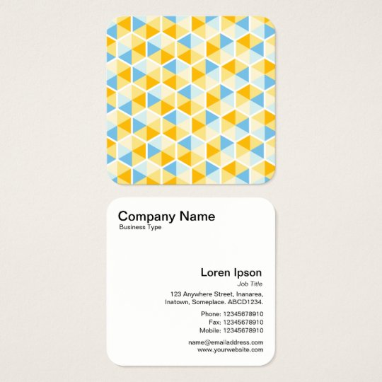 Colour Hexagon Pattern 03 Square Business Card