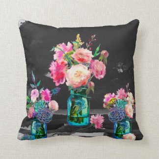 Colour in the Dark, two sided throw pillow