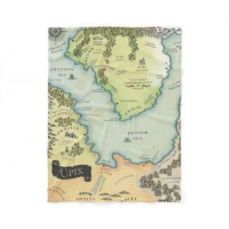 Colour Map Of Upix | Singing Sword Saga Fleece Blanket