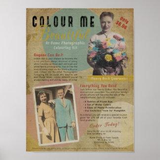 Colour Me Beautiful Faux 1950s Print Ad