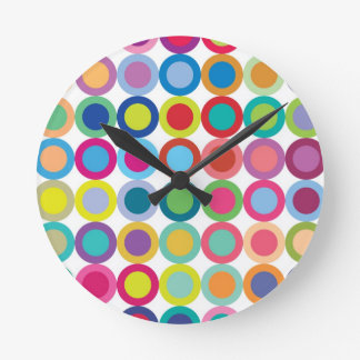 Colour Mix Round Clock