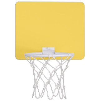 colour mustard mini basketball hoop