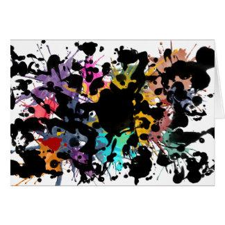 colour my life/Farbklekse | Black Ink Card