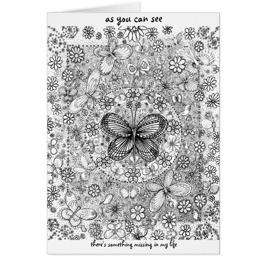 Colour My World Greeting Card
