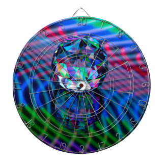 Colour of facets in glass. dartboard