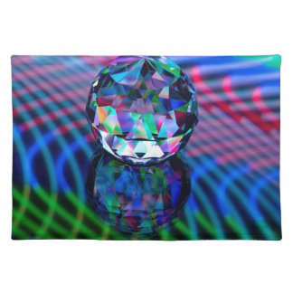 Colour of facets in glass. placemat
