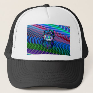 Colour of facets in glass. trucker hat