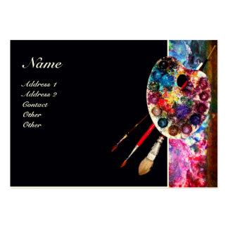 COLOUR PALETTE 2 MONOGRAM Painter,Artist Fine Art Business Card Templates