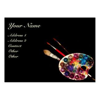 COLOUR PALETTE Painter Artist Fine Art Materials Business Card