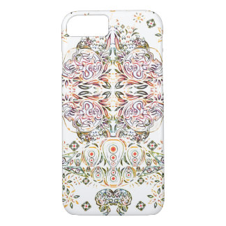 Colour Pencil Psychedelic Skull iPhone 7 Case