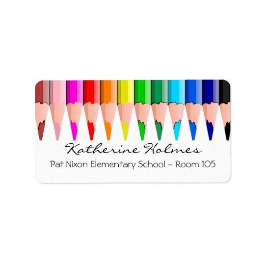 Colour Pencils Address Label