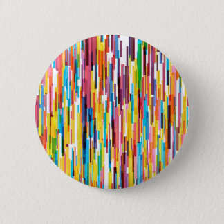 Colour Pikes Pattern 6 Cm Round Badge